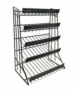 5 Tier Shelf Counter Top Candy Display Rack Black Free Shipping