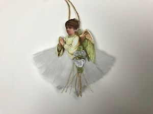 Paper Doll Christmas Angel Ornaments Feather Tree Vintage Image Item 40