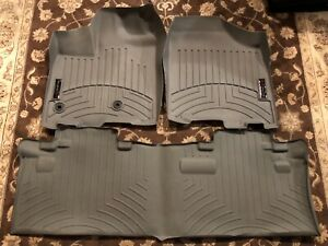 Weathertech Floorliner For Toyota Sienna 8 passenger 2013 2019 Grey