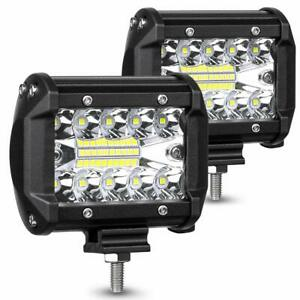 Led Pods Light Bar 4 120w 12800lm Driving Fog Off Road Lights 2 Pack