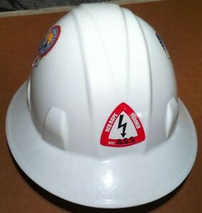 Pyramex Hard Hat Silver State Solar South Project With Stickers