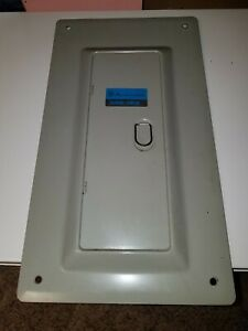 Used 100 Amp Pushmatic Bulldog Ite Electri Center Panel Cover 14 Space With Door