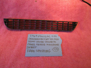 1969 Pontiac Gto Gm Oem Front Lower Valance Grille Molding Insert Free Shipping