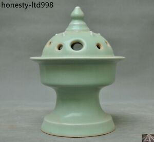 8 Rare Chinese Dynasty Palace Longquan Kiln Old Porcelain Incense Burner Censer