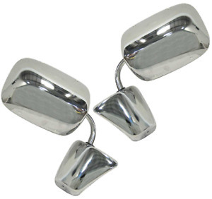 73 87 Chevy Gmc C K Pickup Truck Lh Rh Stainless Side View Door Mirrors Pair