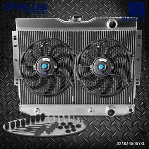 Aluminum Cooling Radiator For Chevy Impala 59 63 60 65 Belair Pro 2 Fan 12
