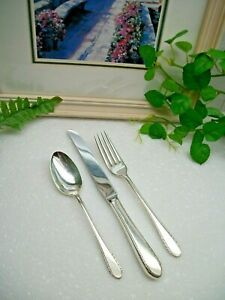 International Holmes First Lady Silverplate Youth Knife Fork Spoon Set 1933