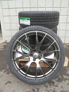 22 New Dodge Charger Srt Hellcat Gloss Gunmetal Set Of 4 Wheels Rims With Tires