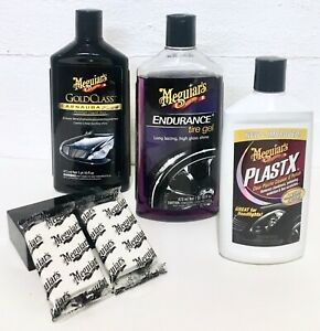 Meguiar S Gold Class Carnauba Plus Wax Tire Jell Plastx Clay Bar Kit