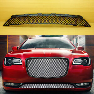 2015 2017 Matte Black Front Bumper Grille For Chrysler 300 Bentley Style Lower