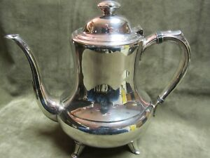 Vintage 1950 S Rogers International 1881 Croydon Pattern Silver Plate Coffee Pot
