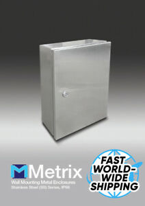 Stainless Steel Electrical Enclosure Metal Box Wall Cabinet Waterproof Big small