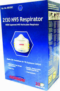 Gerson 2130 n95 Particulate Respirator 4 Boxes Of 20