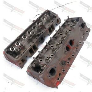 Corvette Original Small Block 350 200hp Cylinder Head Pair H 25 1