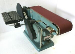 Vintage Enco 4 X 36 Belt X 6 Disc Combination Sander Great Working Condition