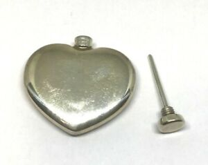 Vintage Tiffany Co Heart Shaped Perfume Bottle In Sterling Silver