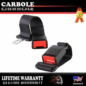 2pcs Car Seat Seatbelt Safety Extender 14 Inch For Jeep Ford Dodge Chevy Gmc