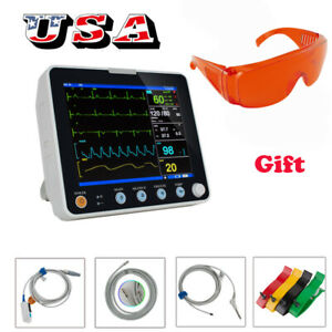 Portable 6 parameter Patient Monitor Vital Signs Hospital Clinic Cardiac Machine