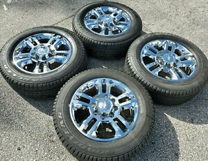 20 Chevy Silverado High Country Wheels Tires 2500 Oem Chrome Factory Gmc Rims