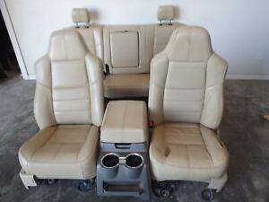 1999 2010 Ford F250 F350 Superduty Lariat Seats Heated Power Front Rear Console