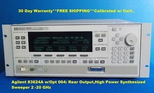 Agilent 83624a W opt 004 Rear Output high Power Synthesized Sweeper 2 20 Ghz