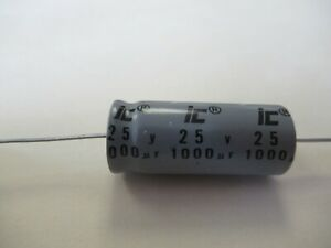 Capacitor 1000uf 25v Axial Lead Electrolytic Aluminum Capacitor