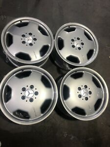 Mercedes benz Slk Factory All Silver 17 Inch Wheels Rims Amg Staggered Oem 2003