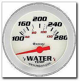 8462 Performance 2 5 8 White Face Electric Water Temperature Gauge 8462