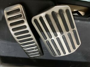 2pcs Stainless Steel Accelerator Pedal Trim For Volkswagen Touareg 2011 2017