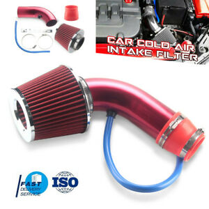Universal Car 3 Car Cold Air Intake Filter Feed Induction Turbo Pipe Hose Usa
