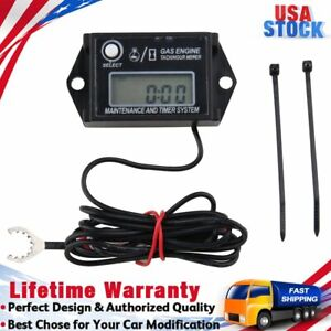 Tach hour Meter Hm026a Lcd Digital Gasoline Inductive Tachometer For Paramotors