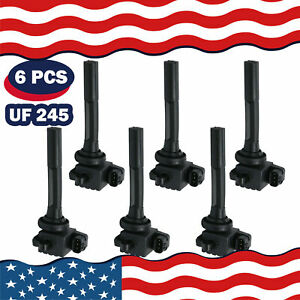 6x Ignition Coils On Plug Pack For 98 01 Isuzu Rodeo Vehicross Acura Honda Uf245