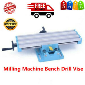 Milling Machine Bench Drill Vise Fixture Worktable X Y axis Adjustment Table Bu