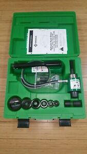 New Greenlee Hydraulic Knockout Punch Set 7306sb 1 2 To 2