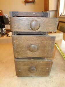 3 Drawers Frame From Treadle Sewing Machine Cabinet Vintage