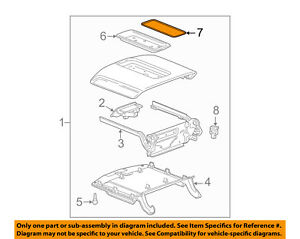 Gm Oem Center Console Tray Mat 23264395