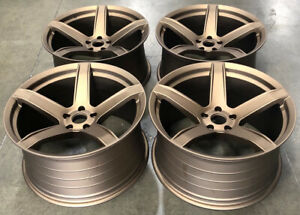 20 Hr5 Replica Hellcat Bronze Concave Wheels Rims Fits Dodge Challenger Charger