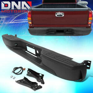 For 1999 2007 Silverado Sierra Fleetside Heavy Duty Rear Face Bar Step Bumper
