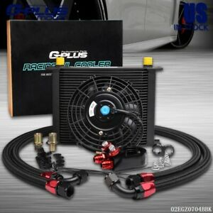 30 Row An 10 Engine Transmission Racing Oil Cooler 7 Universal Cooling Fan