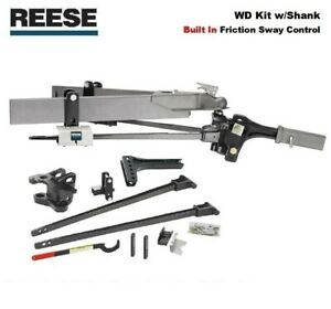 8k Reese Sc Trunnion Weight Distribution Hitch Built In Friction Sway 66153