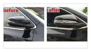 Chrome Rear View Side Mirror Cover Trim Molding For Toyota Highlander 2014 2019