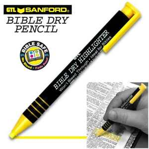 Highlighter bible Dry yellow bx 12
