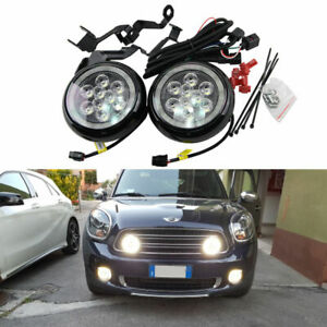 Led Rally Driving Lights Halo Ring Daytime Running Lamps For Mini Cooper Black