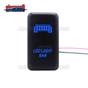 Led Light Bar Push Switch With Connector Wire Kit For Toyota Tacoma Tundra Prado