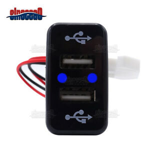 2 1a Dual Usb Ports Power Socket Charger Button For Toyota Tacoma Tundra 4runner