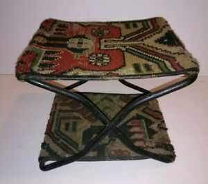 Antique Cast Iron Buggy Carriage The New I D Seat 1895 Victorian Rug Step Stool