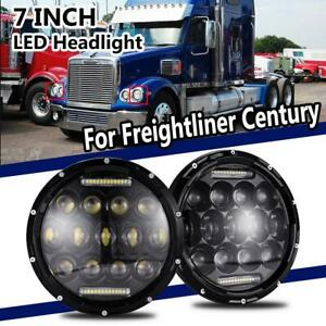 150w 7inch Round Led Headlight Projector Drl Hi Lo Beam For Freightliner Century