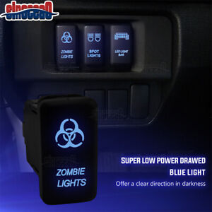 Zombie Lights Push Switch Blue Connector Wire Fit Toyota Tacoma Hilux Fj Cruiser