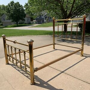 Antique Brass Bed Frame Full Size With Rails Kansas City Area Pickup