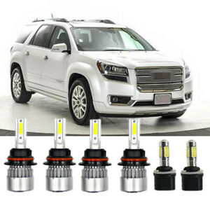 6x Combo Led Headlight Bulb Fog Light Bulb Kit For Dodge Dakota 1998 2000